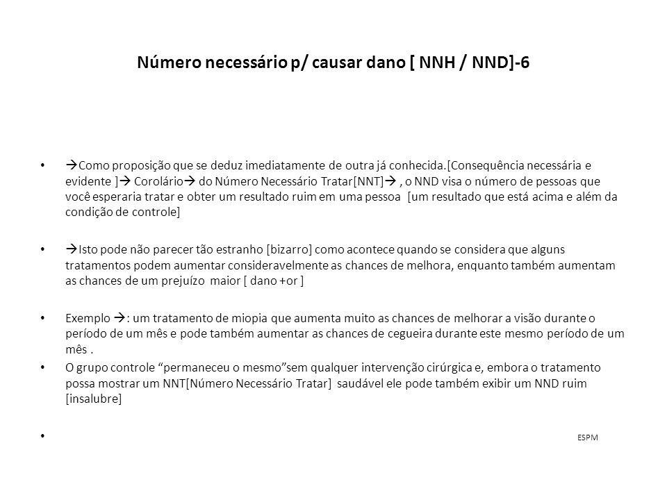 Número necessário p/ causar dano [ NNH / NND]-6